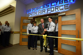 In 2013 the Air Force inaugurated its completed office space for the Cyber Command at Port San Antonio. Courtesy Photo USAF.