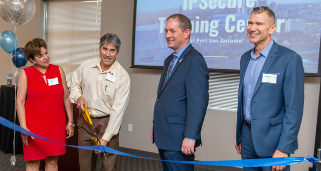 IPSecure Training center ribbon-cutting