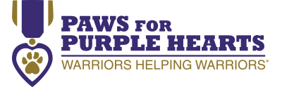 PAWS FOR PURPLE HEARTS logo